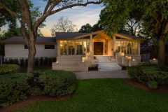 5019 South Braeswood, P3 Elevation, Low Lift, Front Angle, Twilight
