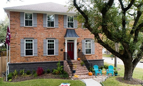 4402 Lula, Bellaire TX – House Raised by Planet Three Elevation