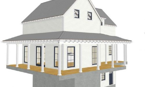 New Homes in Houston | white 3 story home