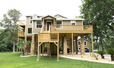 High elevated slab home