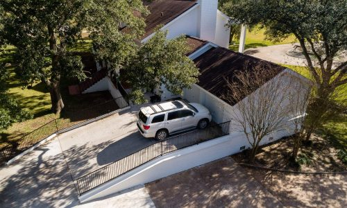 Ramped Driveway Home Elevation