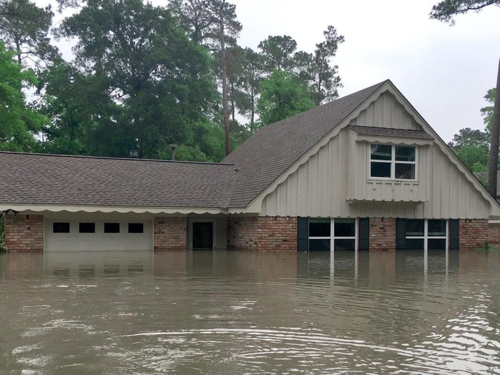 Houston Home Flooded During Harvey