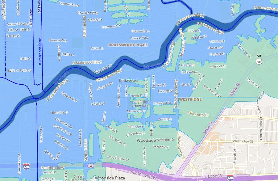 Brays Bayou Flood Map