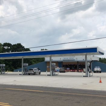 Chevron Gas Station Elevated and Moved After