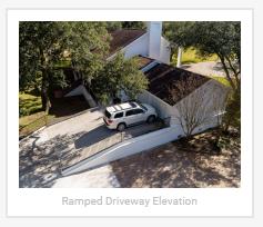 Elevated Homes Ramped Driveways