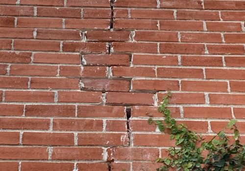 Brick damage from unlevel foundation