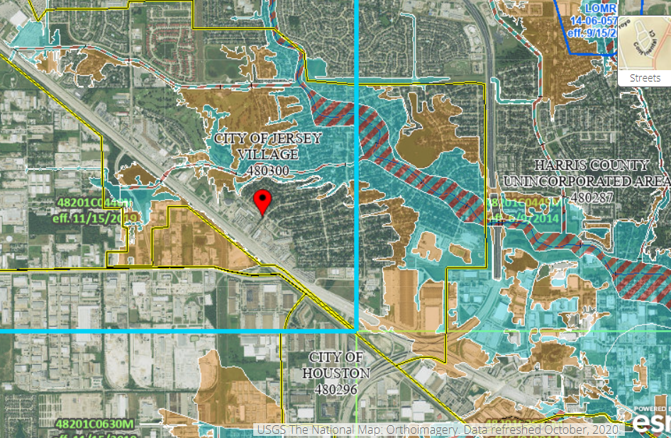 Jersey Village Texas Floodmap