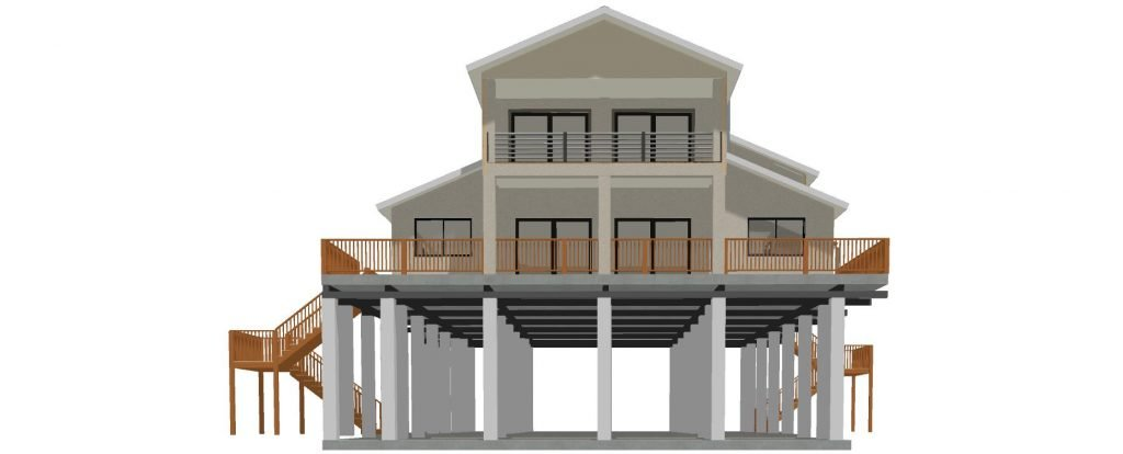 High Home Elevation Lift Rendering