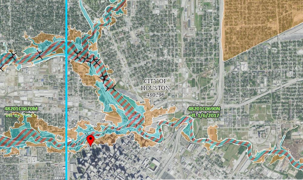 city of houston flood map